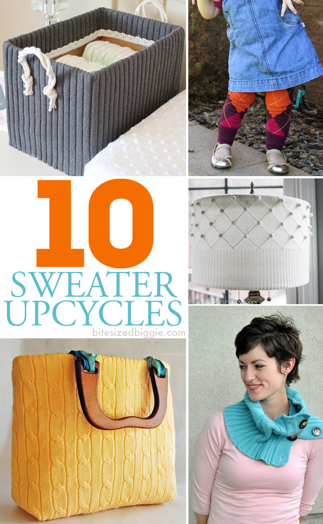 10 GORGEOUS Sweater Upcycle projects!