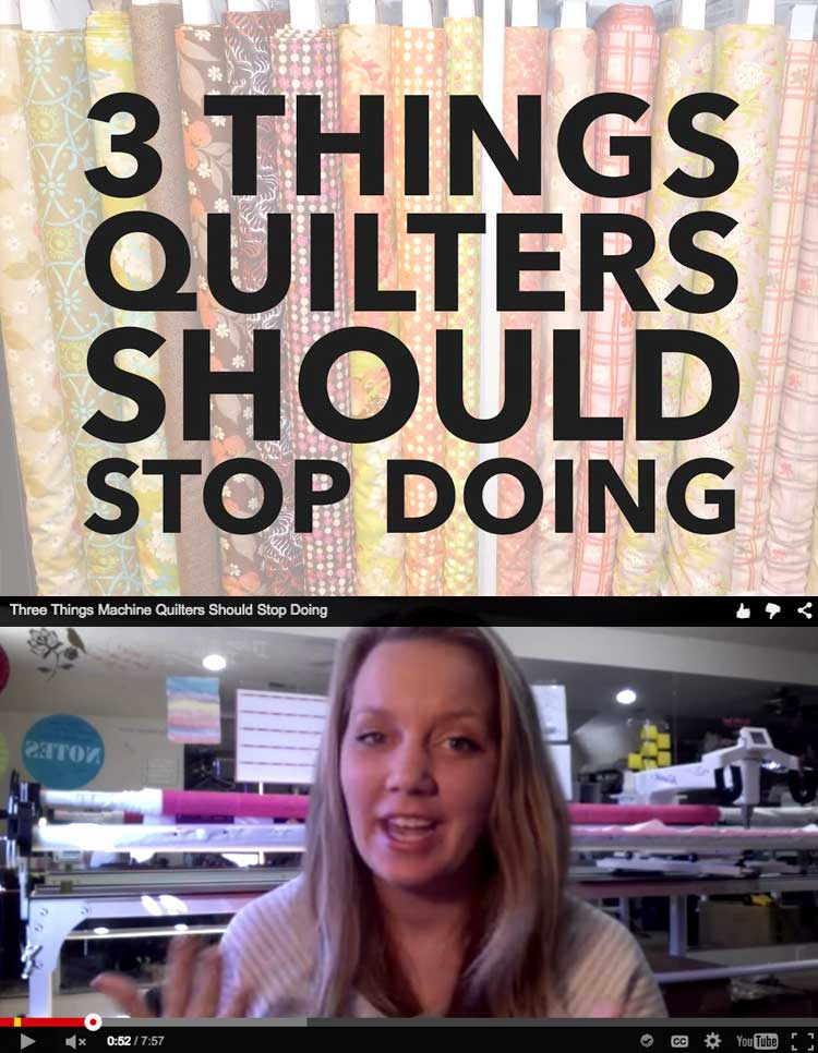3 things quilters (and anyone who sews!) should STOP DOING!