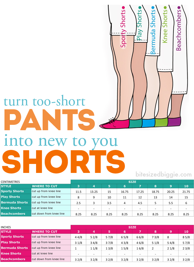turn pants into shorts.