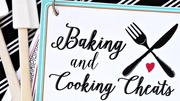 Baking and Cooking Cheat Sheets - so helpful!