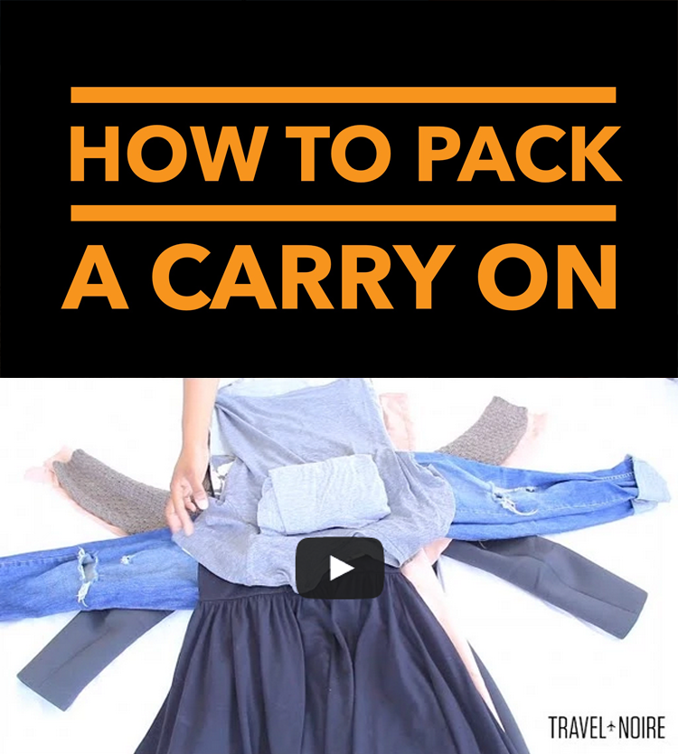 How to pack a carry on- could call this the spider method! ha!