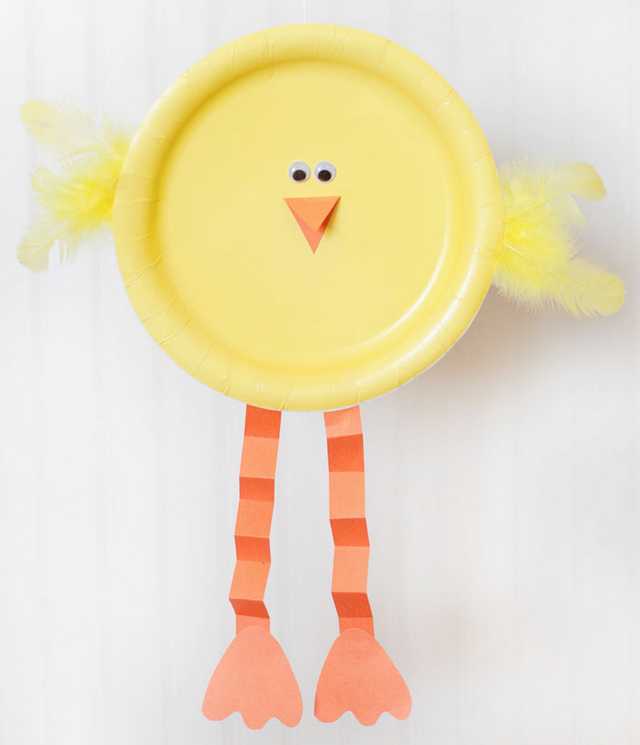 Paper Plate Chick - and 4 other simple Easter crafts in the post