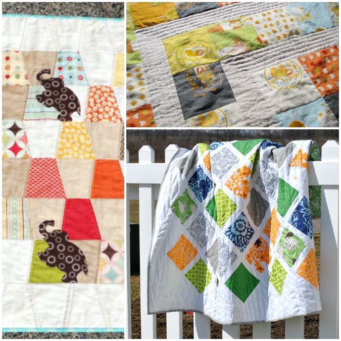 charm squares collage