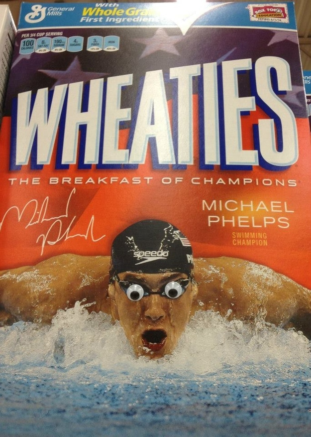 Googly Michael Phelps