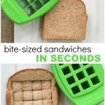 BITE SIZED Tiny Sandwich Cutter – Kid Food Fast!