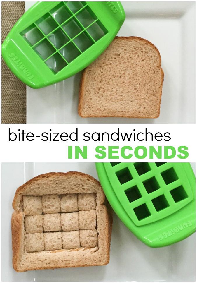 Funbites sandwich cutter - CUTE tiny sandwich bites FAST!