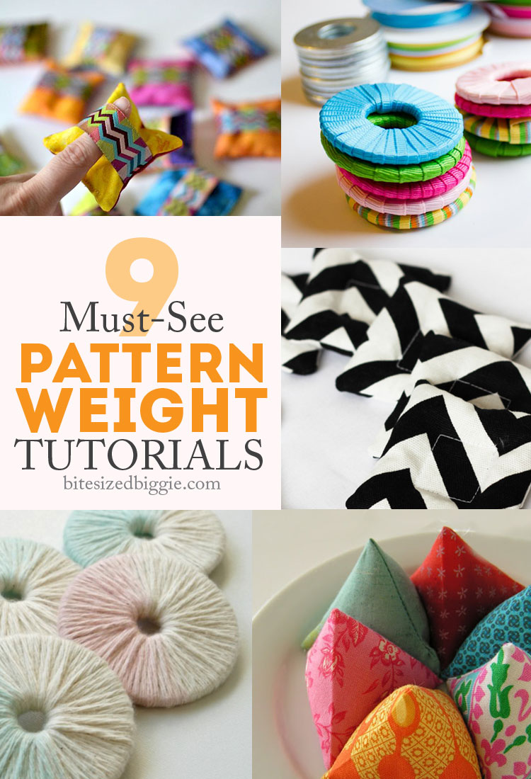9 tutorials for pattern weights - so simple to make and helpful to use!