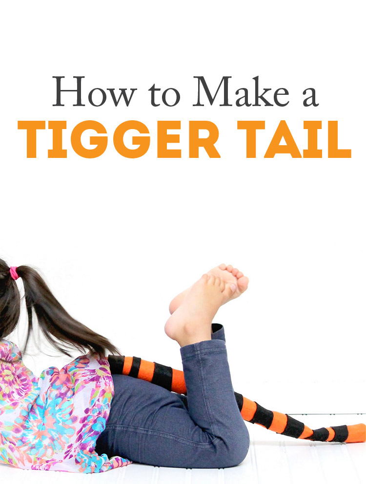 How to make a Tigger tail - SO quick!