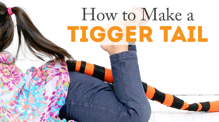 How to make a Tigger tail - SO quick and inexpensive!