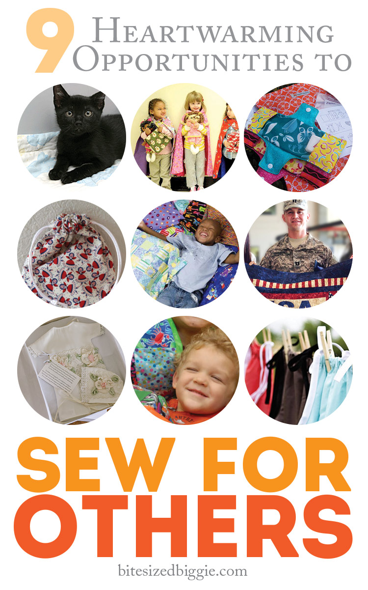 9 year-round and ongoing opportunites for sewing service projects