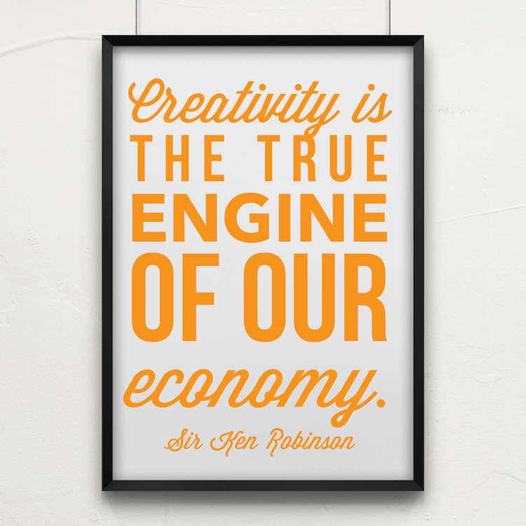 creativity is the true engine of our economy