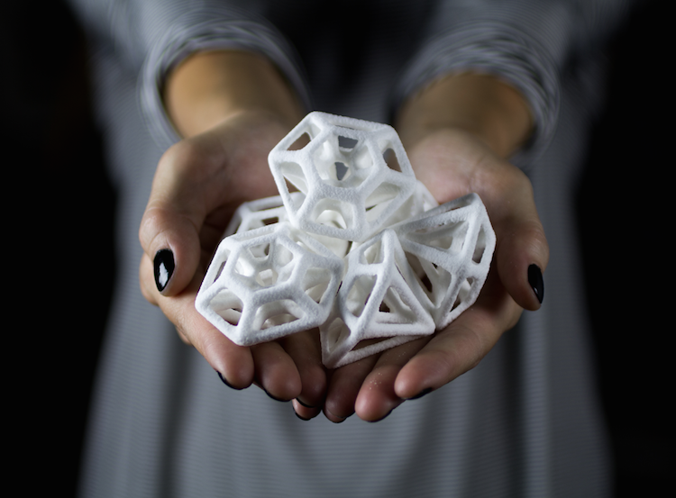 3D printed sugar diamonds