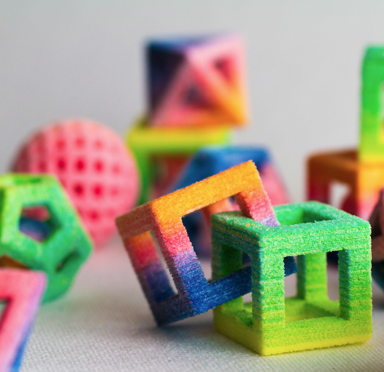 3D printed interlocking SUGAR cubes! Wow!