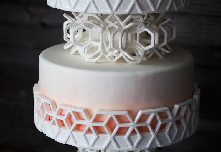 3D printed SUGAR wedding cake stand!