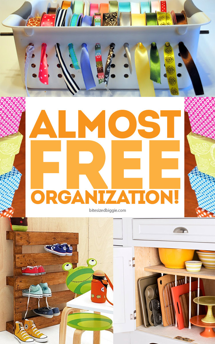 Almost free organization ideas -- simple ways to keep it contained!