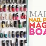 Drowning in nail polish?  How to make a Nail Polish Magnet Board!