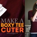 Refashion a Big Boxy Tee into a Cuter Fitted T-shirt!