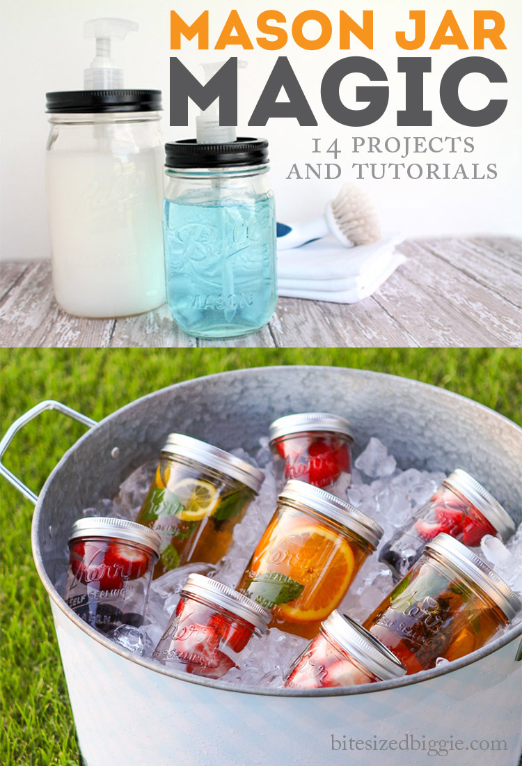14 MASON JAR projects and tutorials - LOVE these!