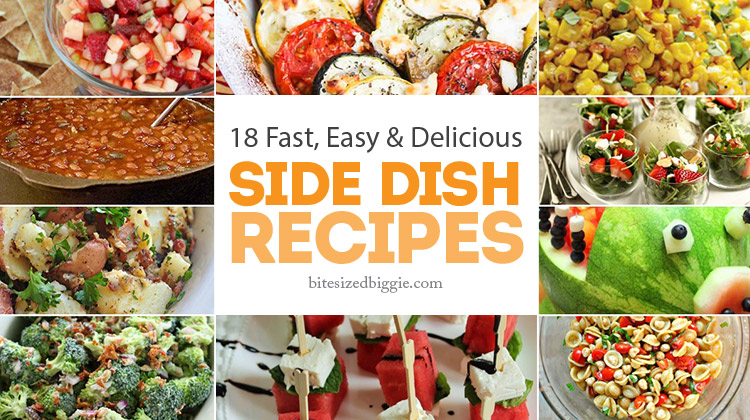 18 Fast Easy and Delicious Cook Out Side Dishes - great recipes! Saving for picnics and pot lucks, too.