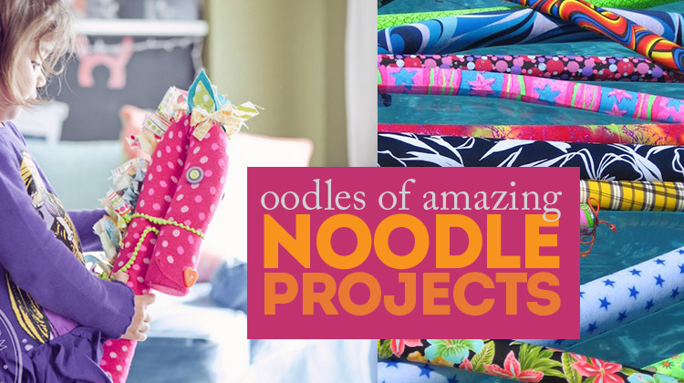 Oodles of noodle projects - pool noodles are inexpensive and so easy to use in projects - love this roundup!