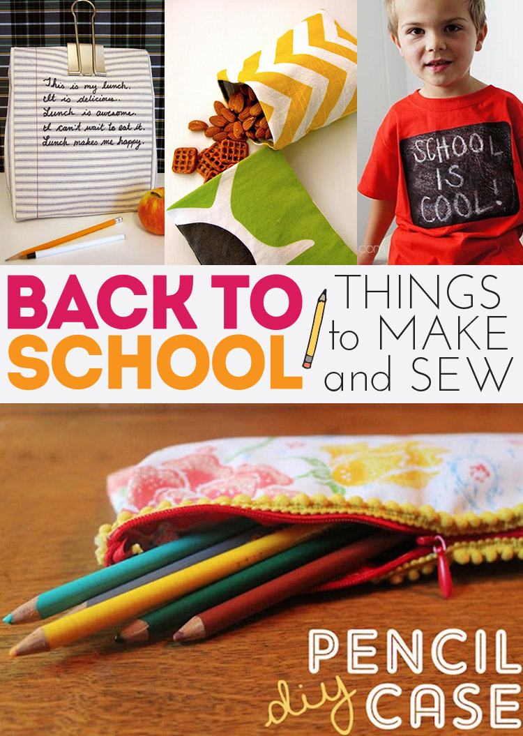 Back to school sewing and craft projects - simple and fun options!