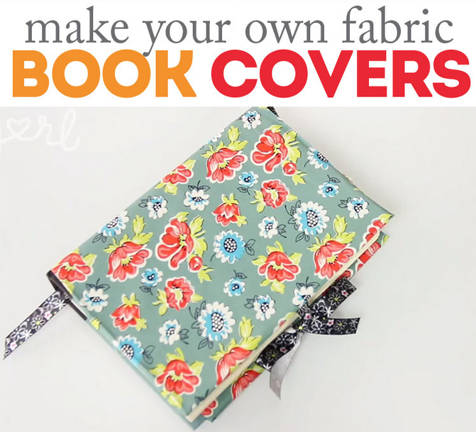 DIY fabric book covers tutorial