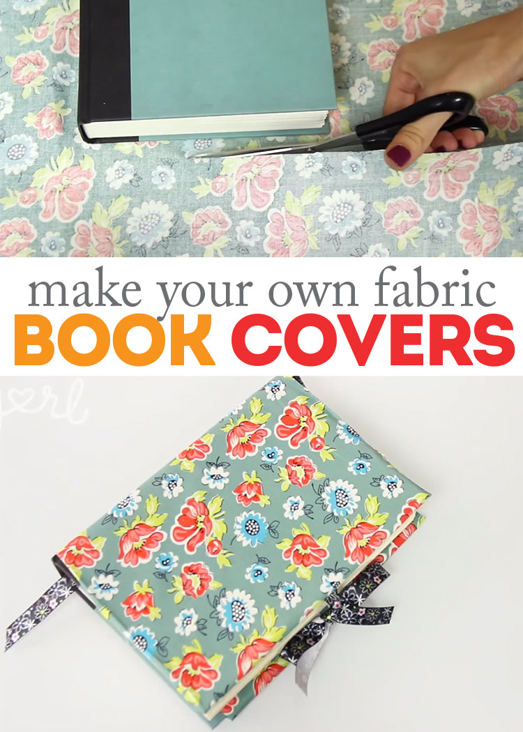 Sew A Simple Book Cover ~ How to make diy fabric book covers