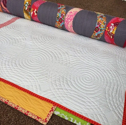 quilt storage using a pool noodle