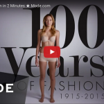 100 Years of Women's Fashion in Just 3 Minutes!