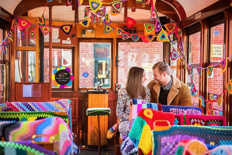 Bendigo Tramways crochet bombed tram photographed by The Art of Zowie Photography