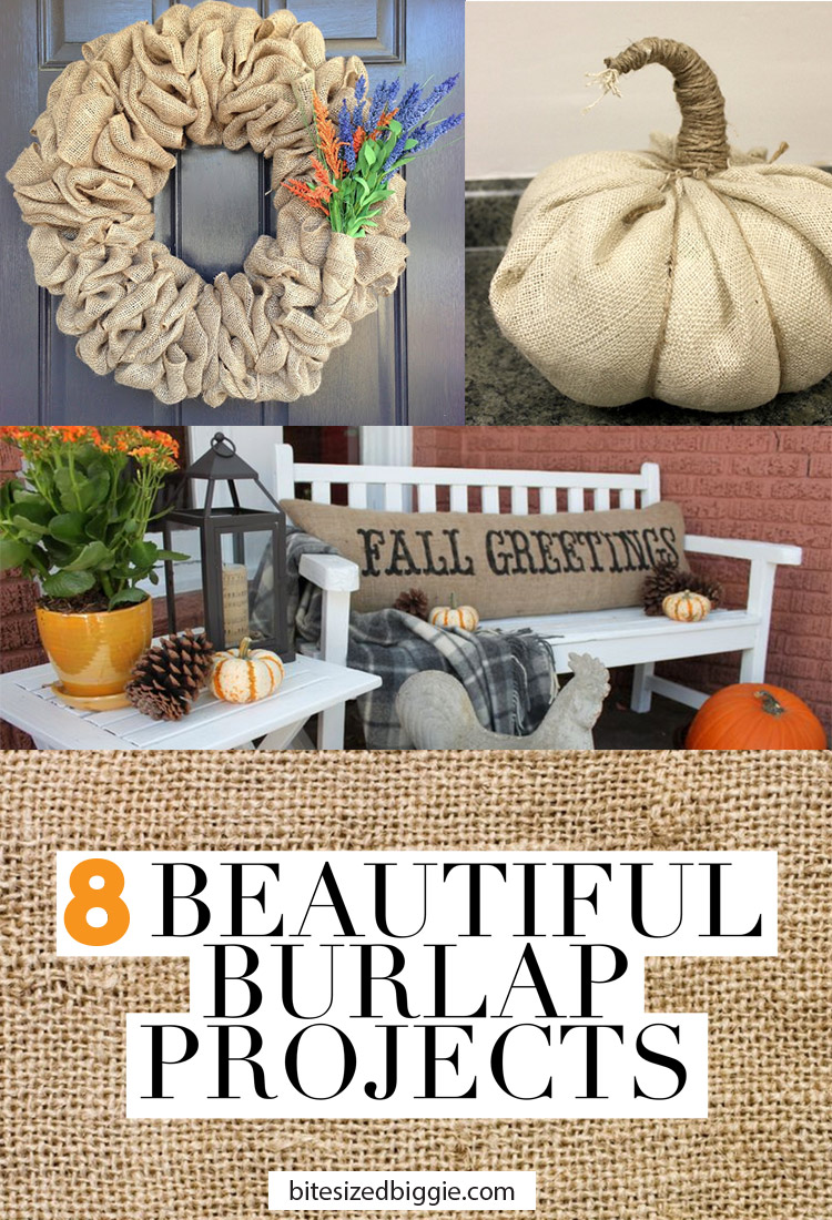 8 Beautiful BURLAP projects! Burlap is so inexpensive and can be used for such big impact!
