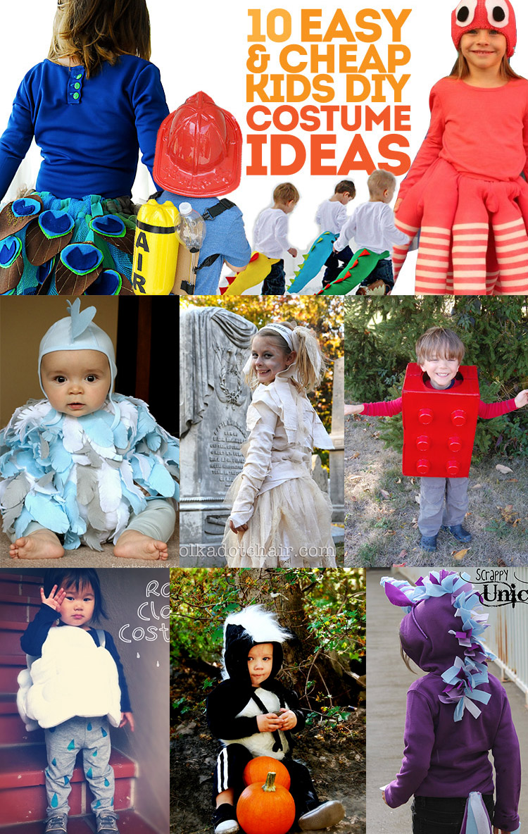 10 super easy and super inexpensive kids costume ideas -- the octopus is so clever!