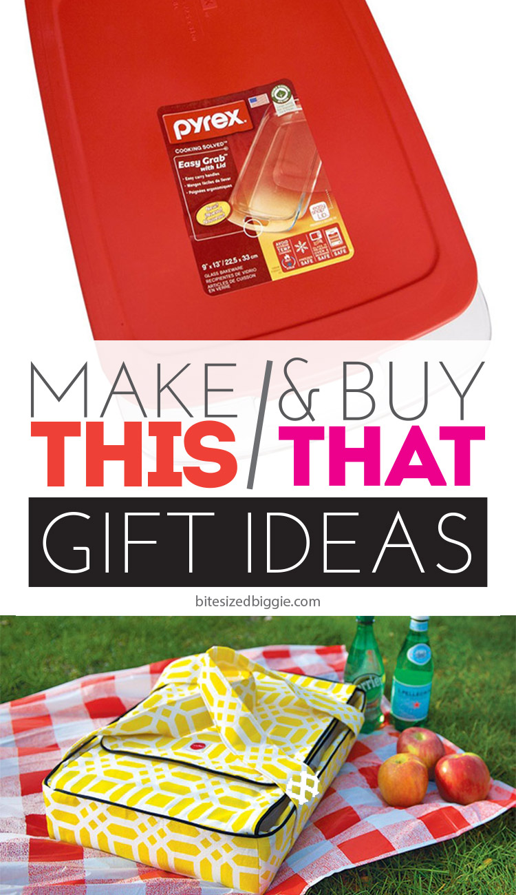 Make This & Buy That gift idea - add a handmade casserole carrier to a baking dish - you'll be the most favorite gift-giver ever!
