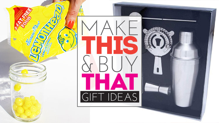Make This & Buy That gift idea - martini shaker + Lemonhead vodka! So yummy!