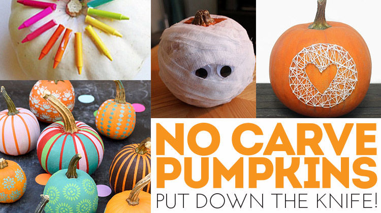 No Carve Pumpkins! Enjoy pumpkins without the knife!