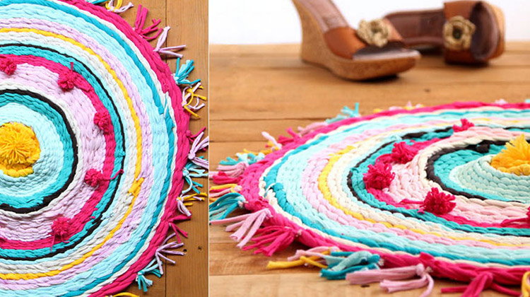 Turn T-shirts into a Rag Rug!
