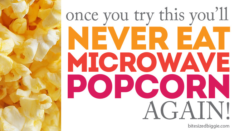 This is SO MUCH better than microwave popcorn and still so simple to make!