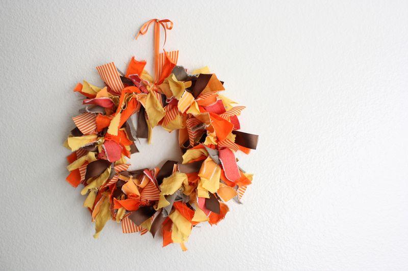 Autumn Fabric Wreath