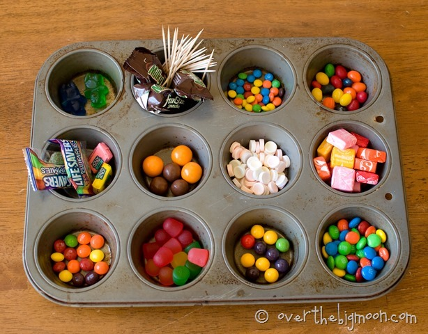 Save halloween candy for gingerbread houses!