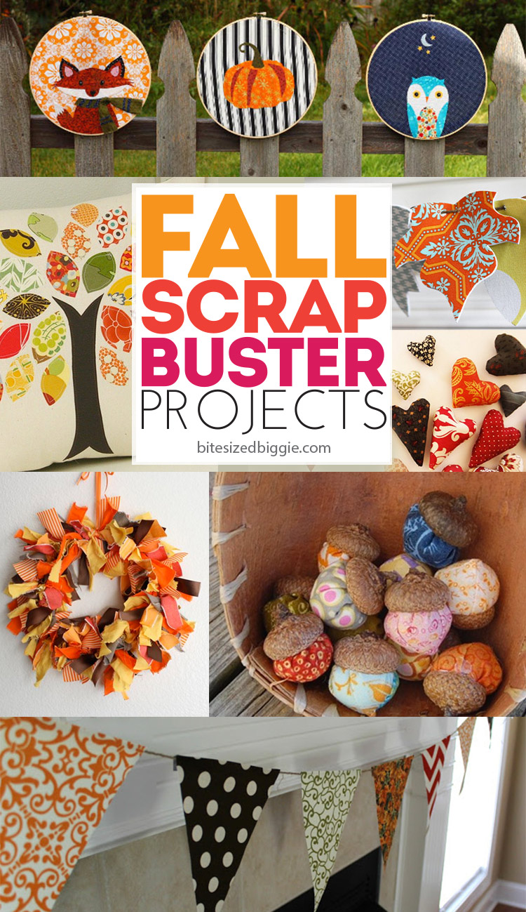 9 gorgeous scrap buster projects - LOVE these - ready to decorate for fall without breaking the bank! I have a HUGE scrap pile I need to use up!