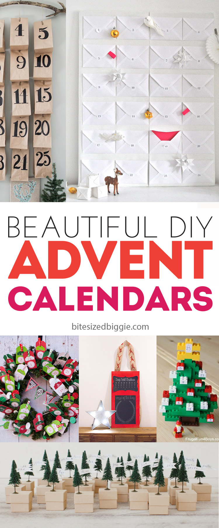 Beautiful Advent Calendars - you can totally DIY these - some are nearly free to make!