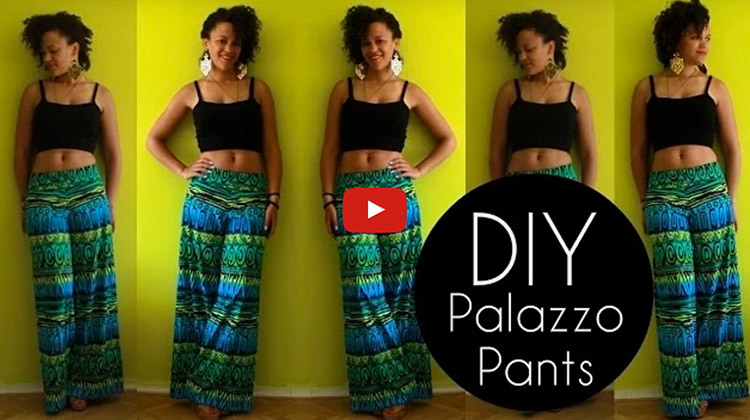 easy diy palazzo pants bite sized biggie. Black Bedroom Furniture Sets. Home Design Ideas