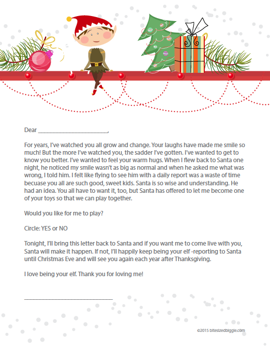 How to BREAK UP with your Elf on the Shelf! Free Printable Letter!