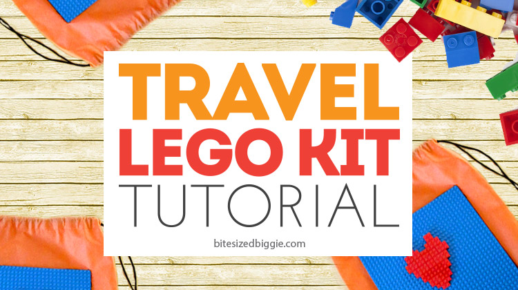 How to make a TRAVEL Lego Kit - keeps all of those little pieces together on the go!