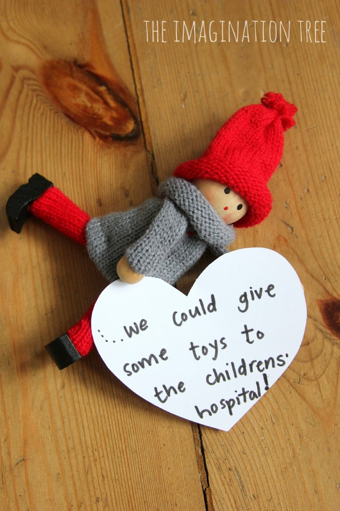 Kindness Elves Instead of Elf on Shelf