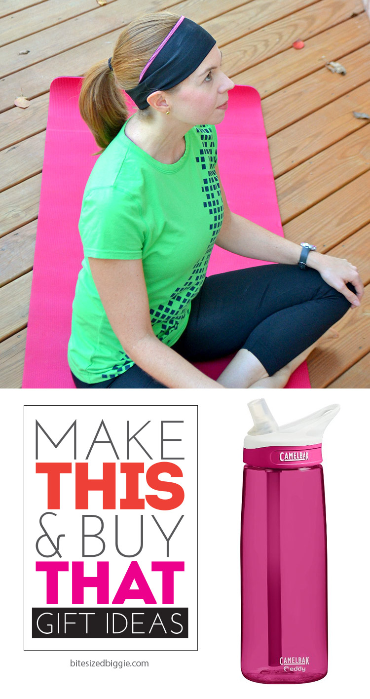 Make this and buy that - gift ideas for FITNESS FRIENDS! MAke the headband and add a fantastic water bottle! Great way to start the New Year, too!