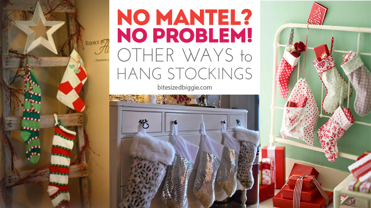 No mantel? No problem! Other creative ways to hang stockings!