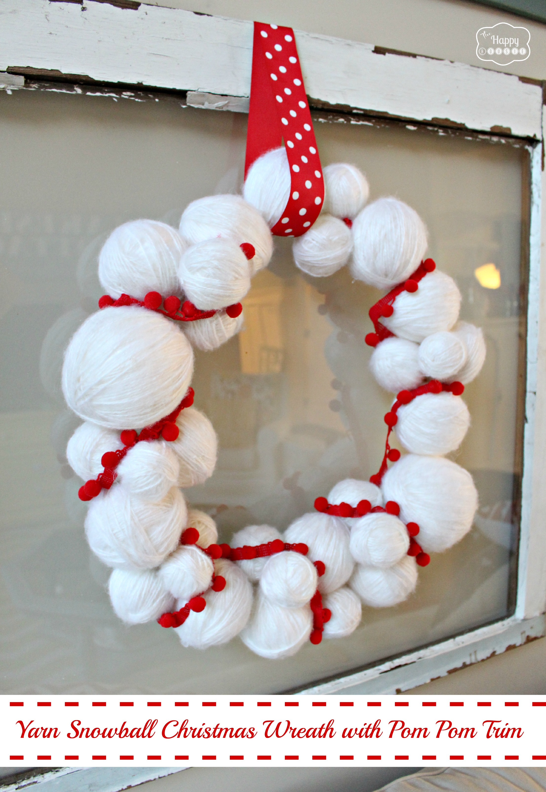 Yarn wrapped wreath