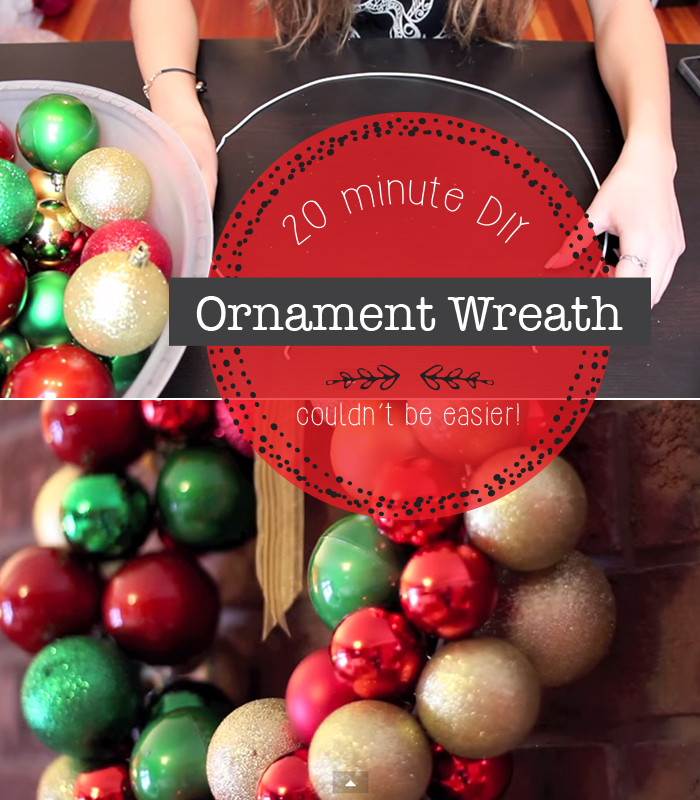 ornament wreath in 20 min