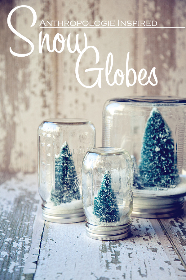 snow globes out of mason jars